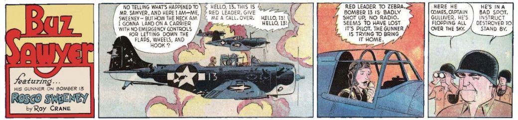 Buz Sawyer är pilot på Bomber 13