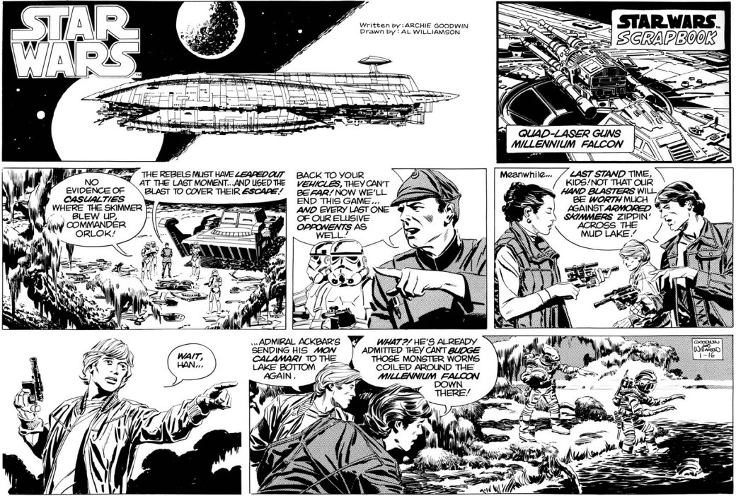 Star Wars söndagsserie 16 januari 1982