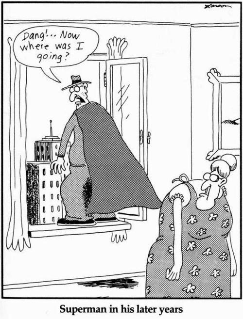 Superman i The Far Side av Gary Larson