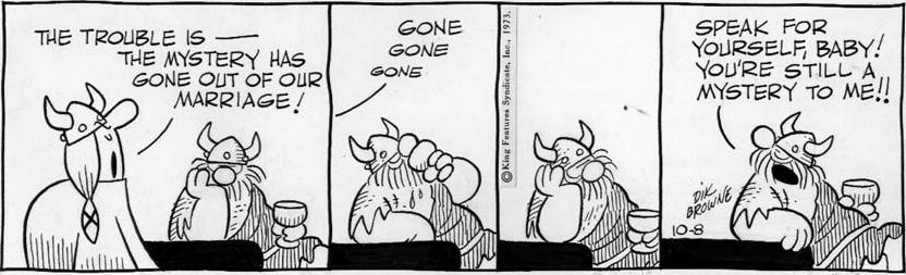Hägar the Horrible av Dik Browne från 8 oktober 1973