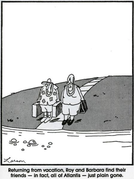 Atlantis i The Far Side av Gary Larson