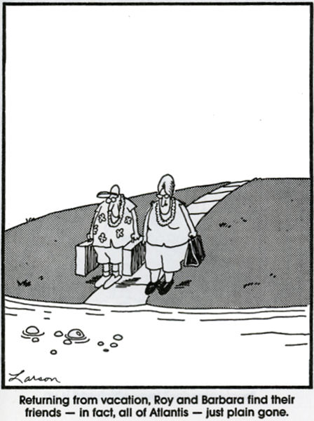 Atlantis i The Far Side av Gary Larson