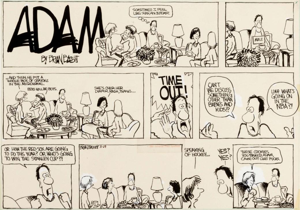 En Adam-söndagssida från 29 mars 1987