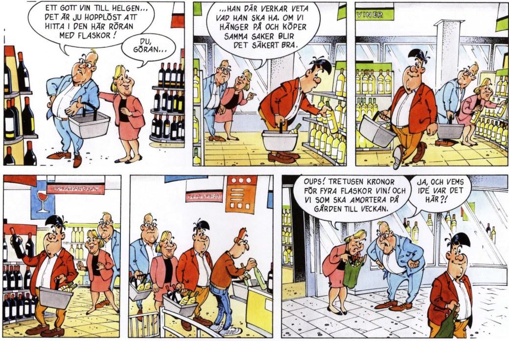 Serien Bengt Bouquet för vintidningen Munskänken