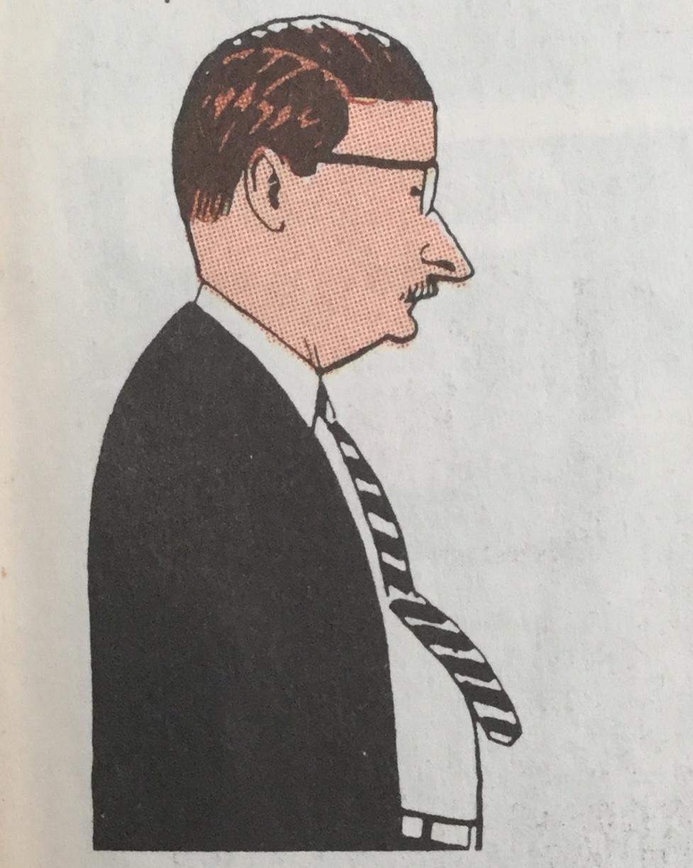 Roy Crane, självporträtt, var skaparen av Buz Sawyer och Rosco Sweeney