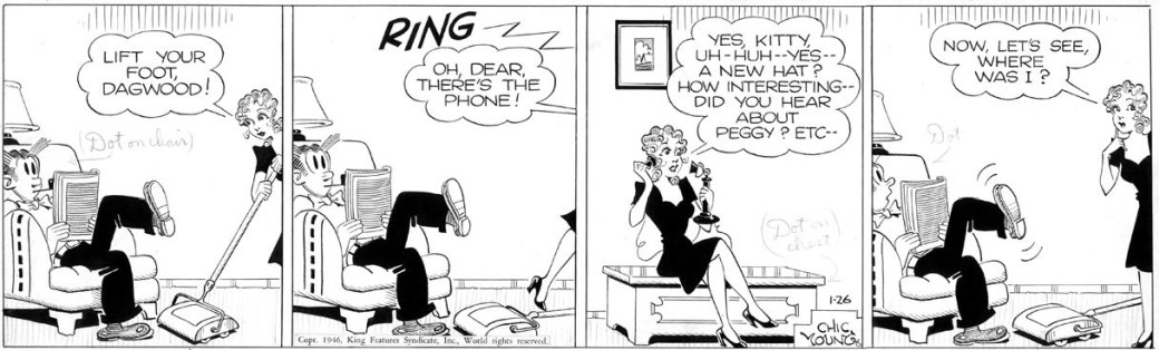 Dagsstripp med Blondie från 26 januari, 1946