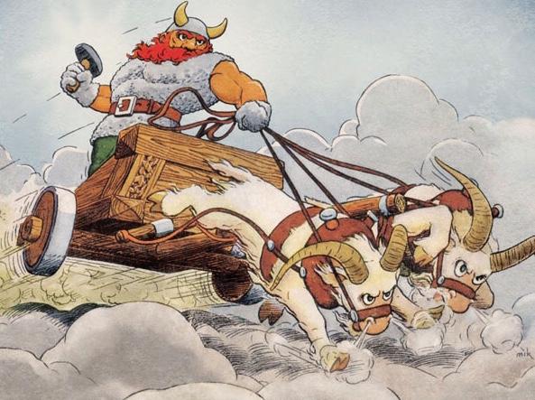 De Gamle Guder illustrerad av Henning Dahl Mikkelsen