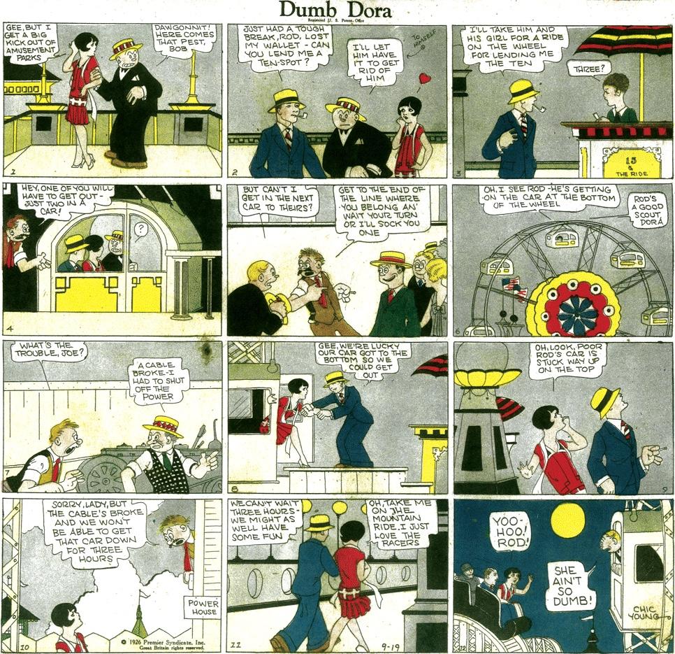 Dumb Dora av Chic Young från 26 september 1926