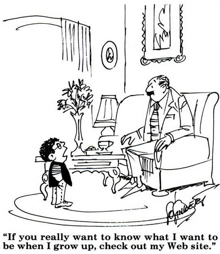 En skämtteckning av Linkert