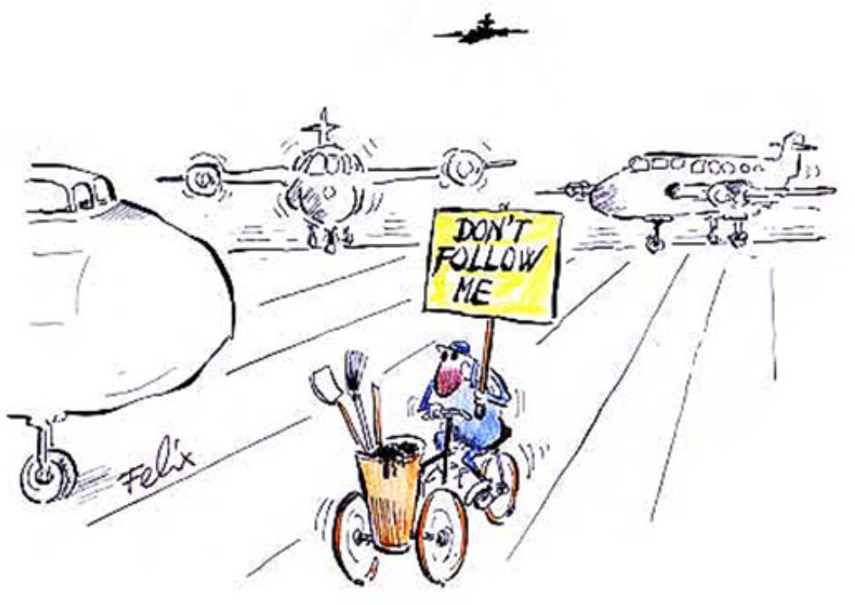 Städare på flygplats