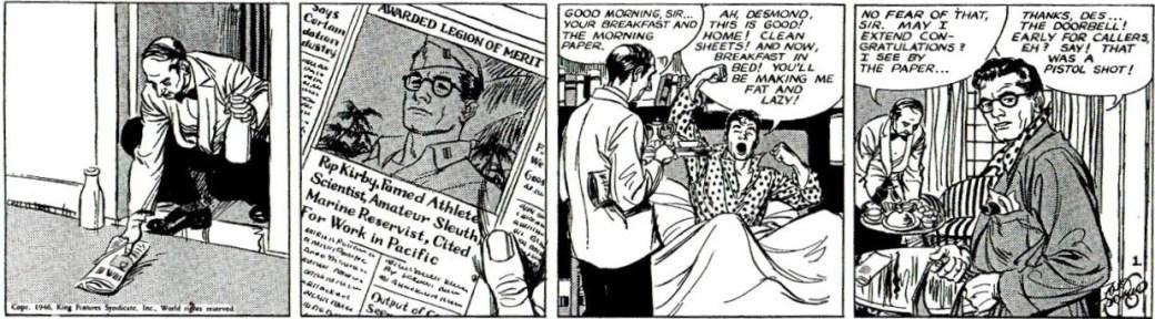 Andra strippen från 4 mars 1946.
