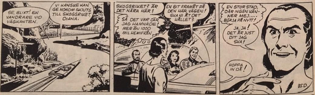 """En stripp ur """"Trollkarlen"""", från 4 januari 1957"""