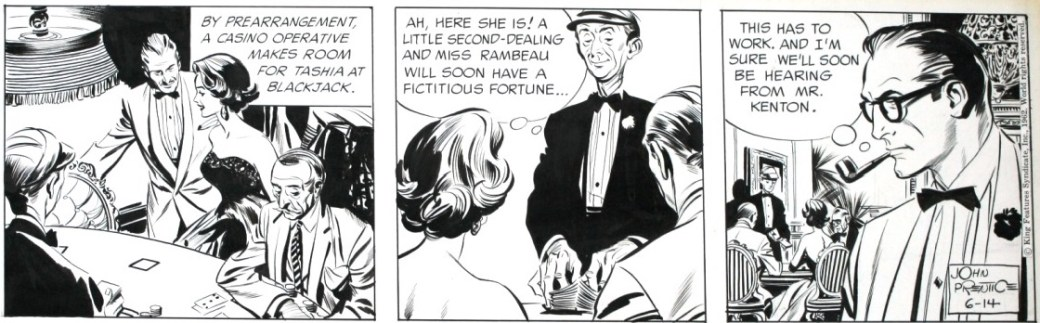 En stripp spöktecknad av Al Williamson från 14 juni 1962