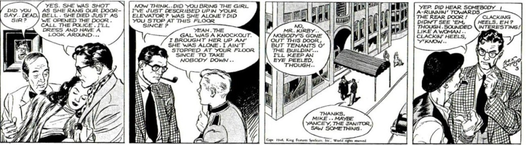 Tredje strippen från 6 mars 1946.