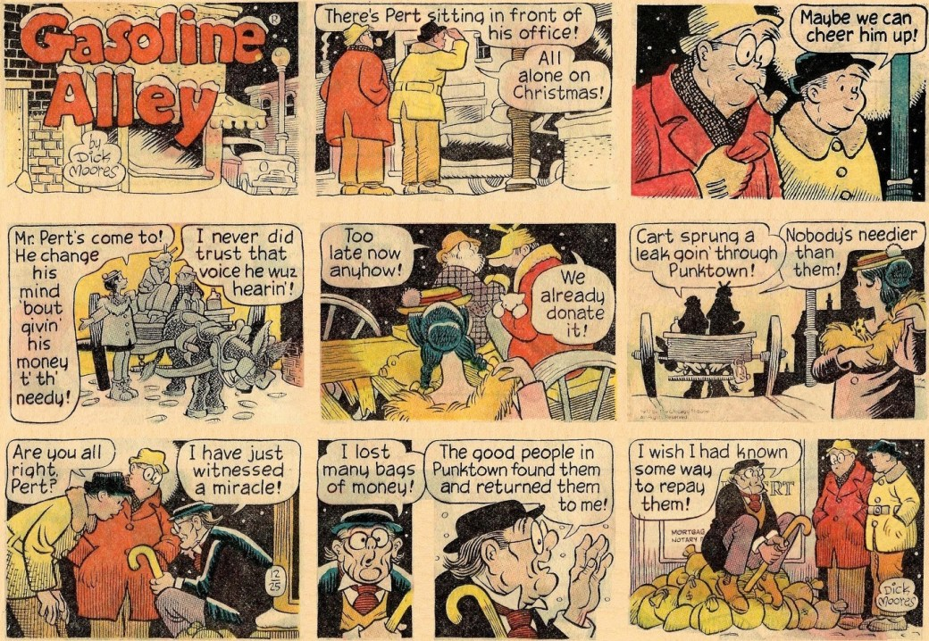 Söndagssida från 25 december 1977.