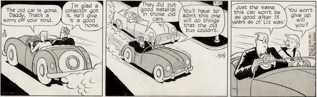 Original till en dagsstripp från 23 mars 1957