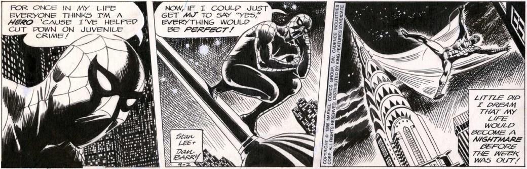 Sprider-Man av Dan Barry från 2 september 1986