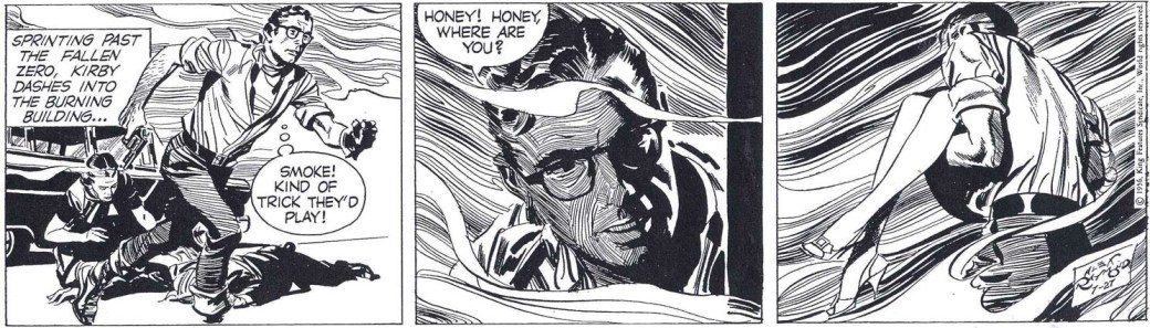 En av de sista stripparna av Alex Raymond, från 27 juli 1956