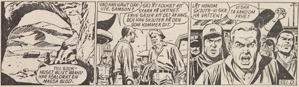 """En stripp ur """"Vatten! Vatten!"""" från 27 augusti 1958"""