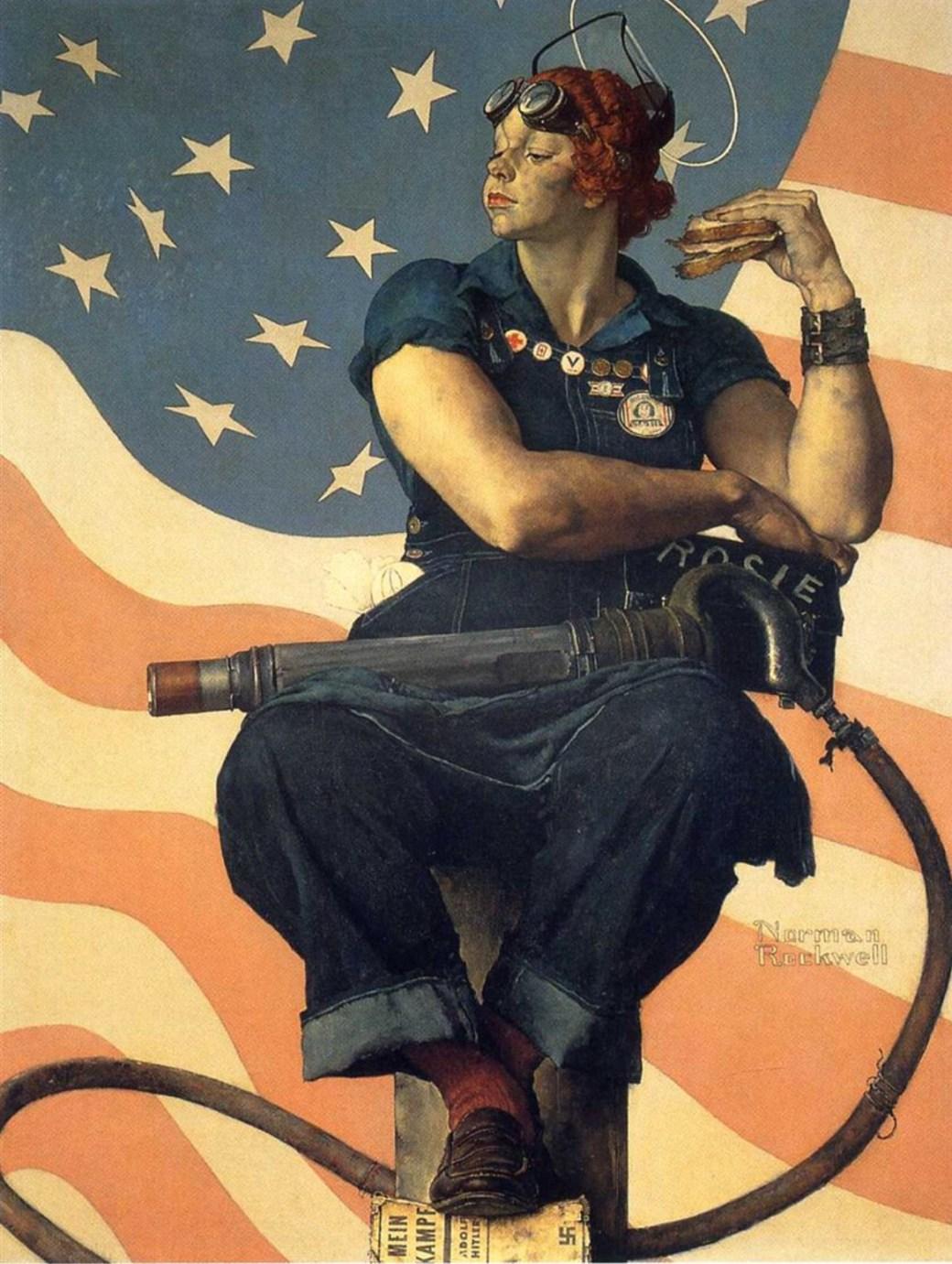 Rosie the Riveter av Norman Rockwell