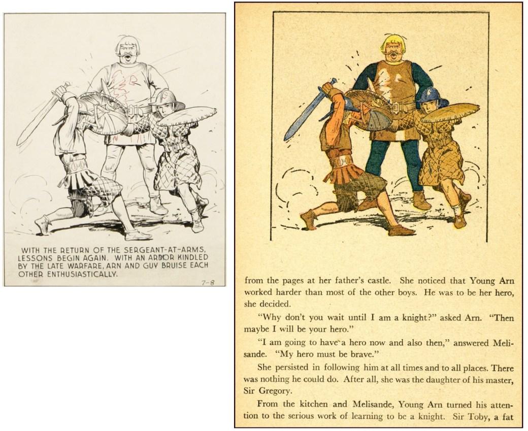 Bilden från The Young Knight ser ut att vara en direkt kopia av den i The Mediæval Castle