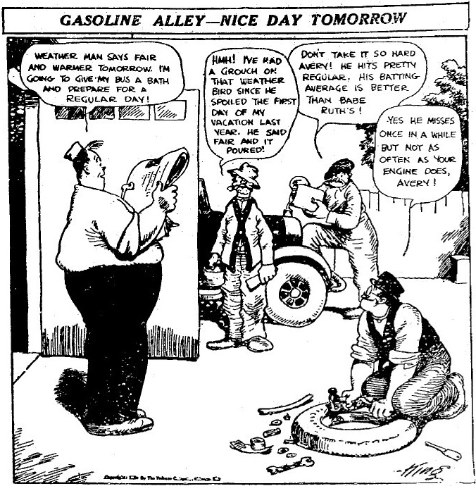 Gasoline Alley från lördag den 23 april, 1921