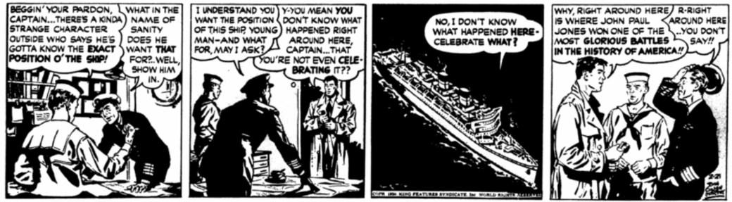 Andra strippen från 21 februari 1950
