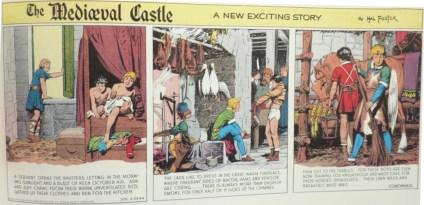 Den första strippen med The Mediæval Castle publicerades den 23 april 1944. ©KFS