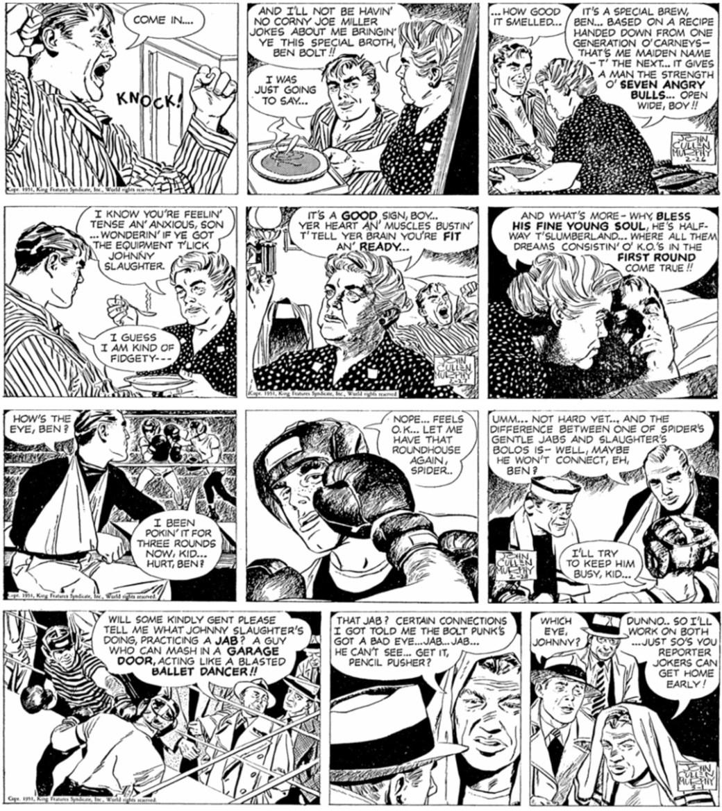 Stripparna från den 27-28 februari 1951 saknas i Ben Bolt nr 1, 1963