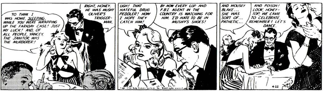 Första strippen i The Hicks Formula, från den 22 april 1946