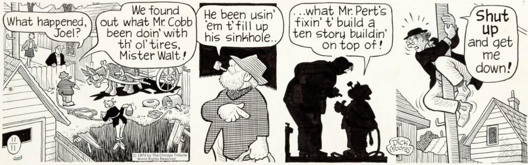 En dagsstripp av Moores från 11 november 1984