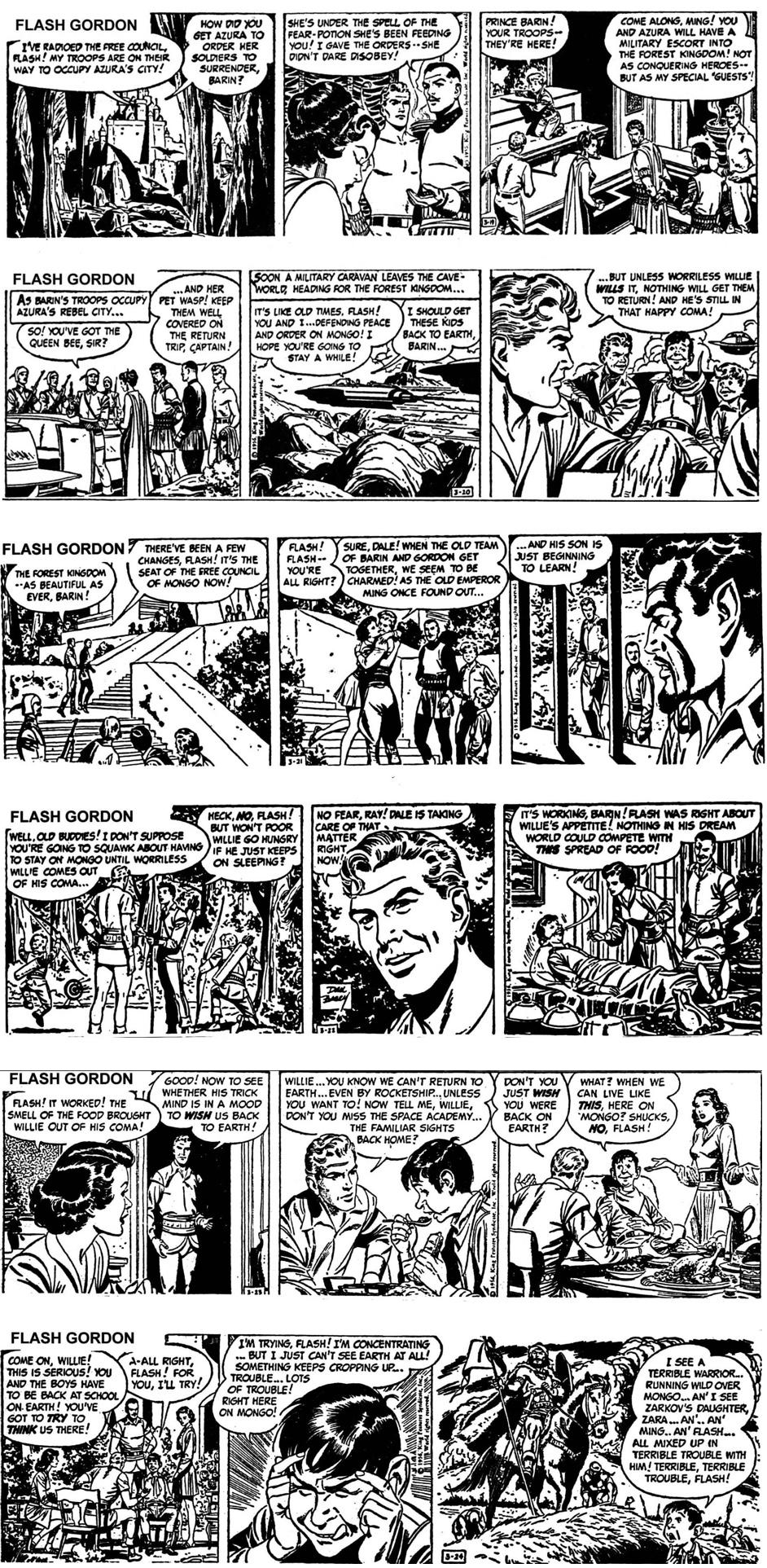 Flash Gordon 19-24 mars 1956