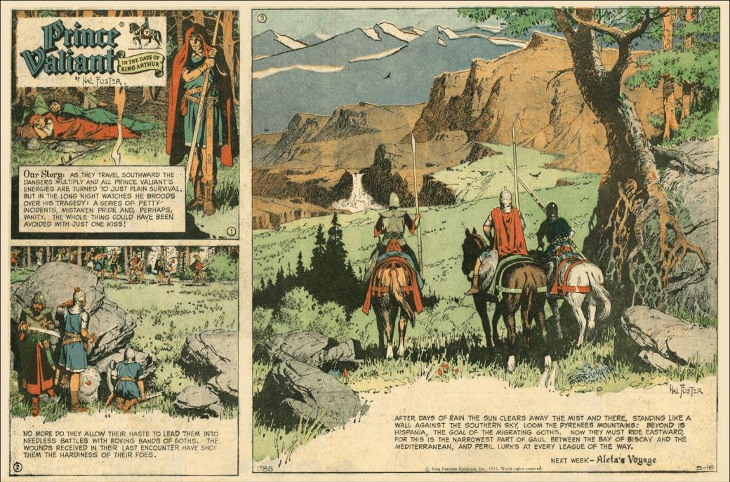 Hal Fosters sista Prince Valiant-sida från 16 maj 1971