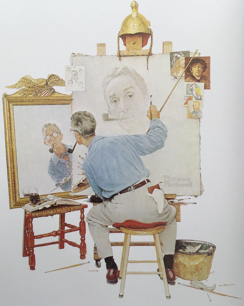 Triple Self Portrait av Norman Rockwell
