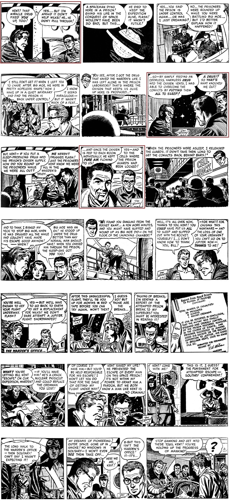 Flash Gordon 9-16 februari 1952