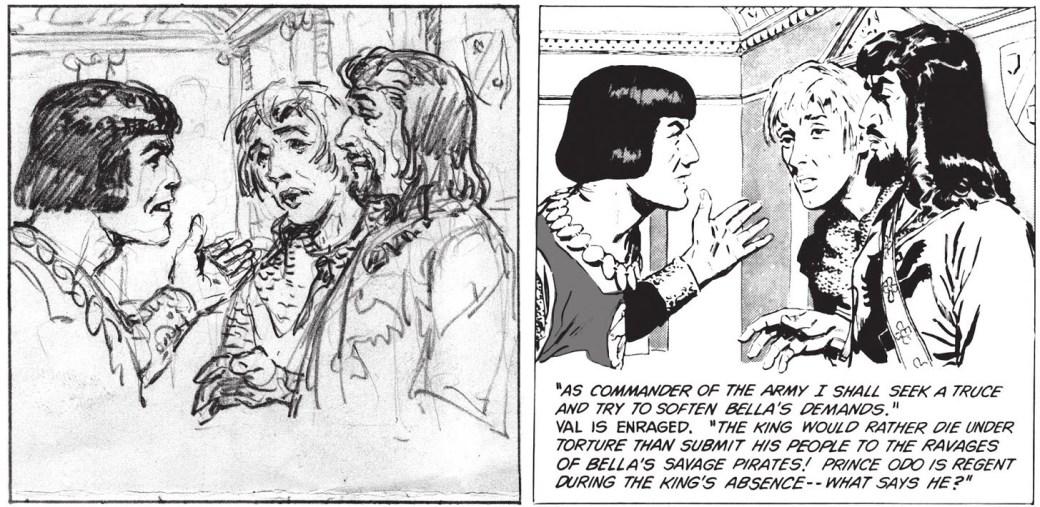 I inledningen av samarbetet skissade Hal Foster (t.v.) och John Cullen Murphy (t.h.). tuschade och textade