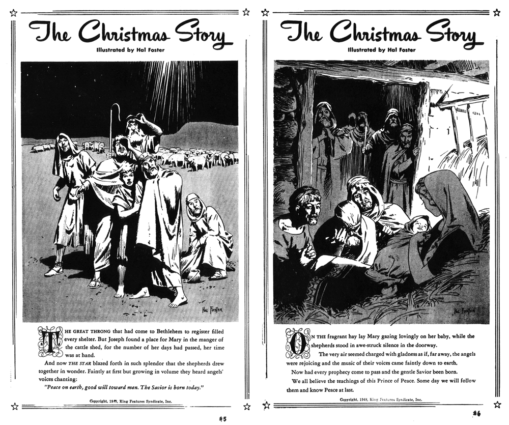 Hal Foster illustrerade The Christmas Story 1948
