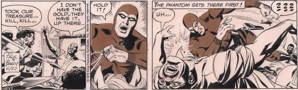 Ett Fantomen-serieoriginal av Sy Barry från 27 juni 1979