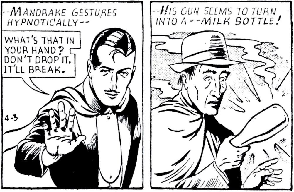 Mandrake gör en hypnotisk gest 3 april 1947