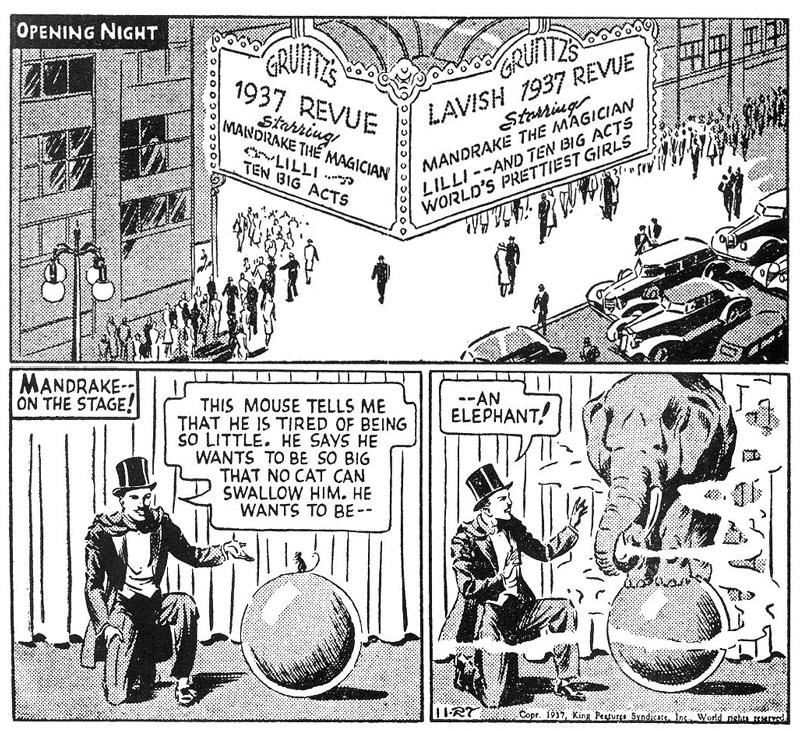 Mandrake på scen den 27 november 1937