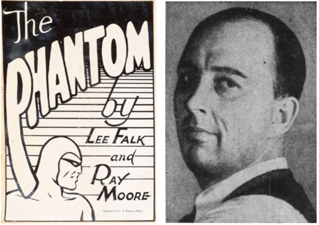 Ray Moore, t.h., i ett foto som inte var känt före 2011 för Fantomen-läsarna