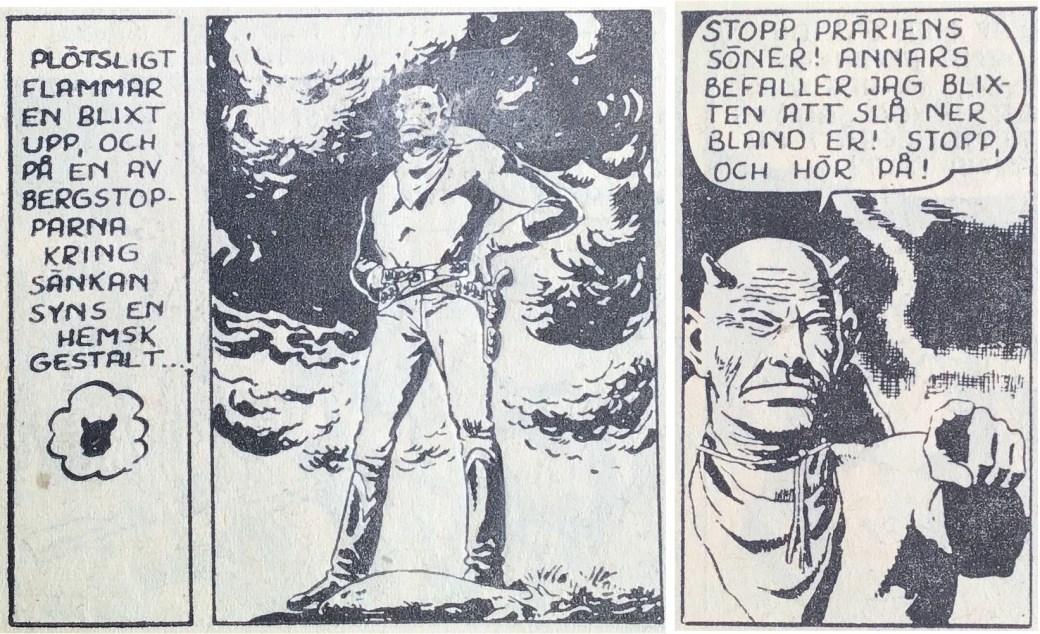 Kinowa visar sig för indianerna, ur Prärieserier nr 20, 1954