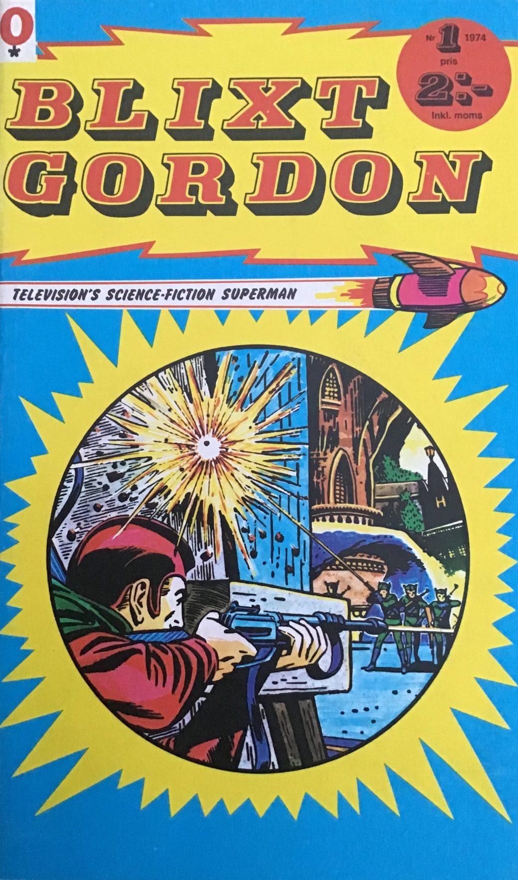 Omslag till Blixt Gordon nr 1, 1974.