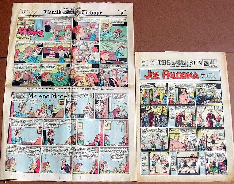 Fullformat och tabloidformat på 40-talet