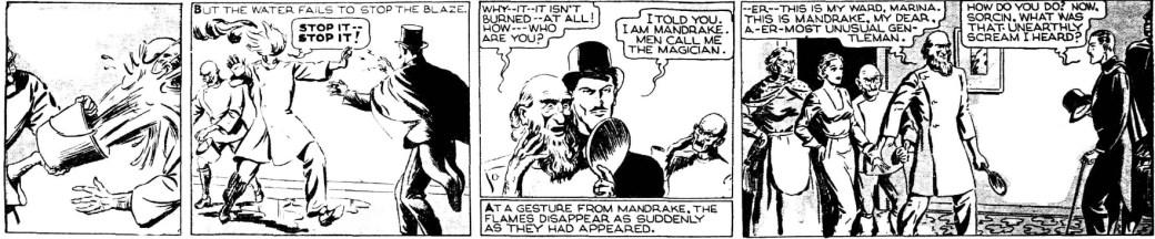 En Mandrake-stripp av Phil Davis från 4 mars 1935