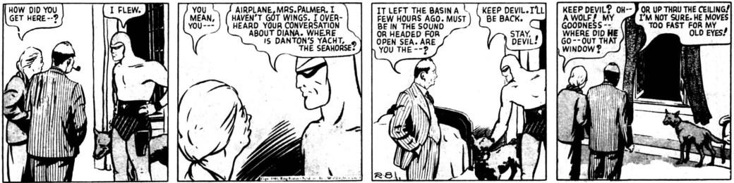 En dagsstripp ur episoden The Seahorse, från 8 februari 1940