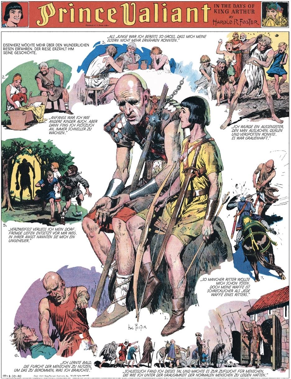 Prince Valiant i en layout som endast är möjlig i helsidesformat