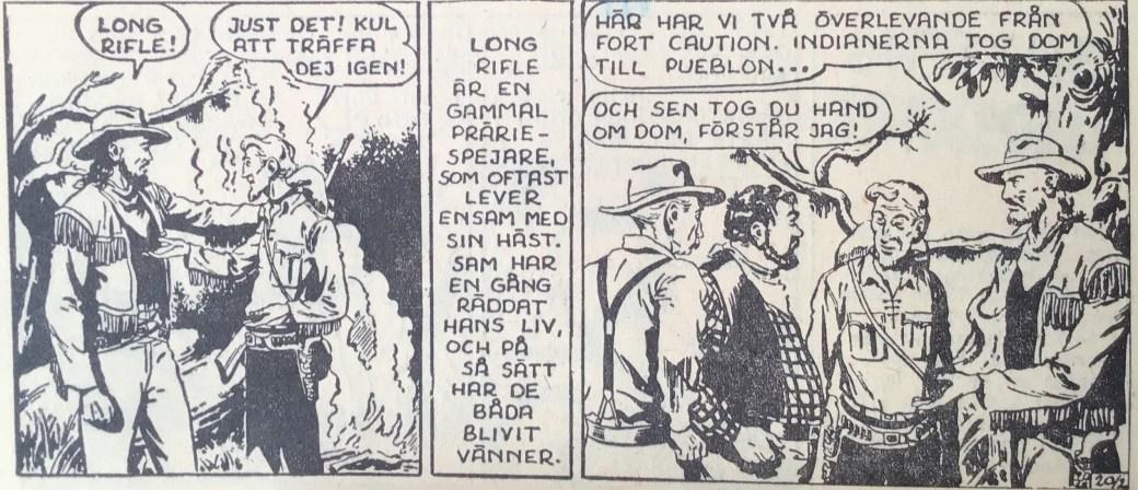 En sida ur Prärieserier nr 20, 1954