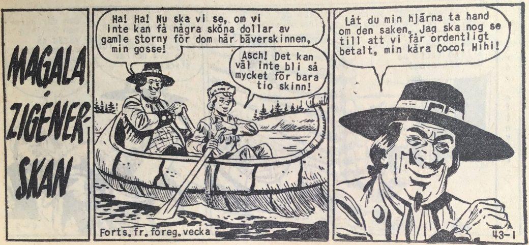 Den inledande sidan ur Prärieserier nr 43, 1959