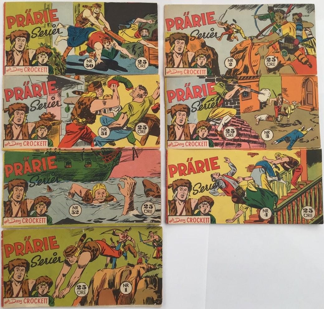 Davy Crockett-äventyr 1959 i Prärieserier nr 50, 1959 - nr 4, 1960
